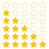 Stars icons set for ratings vector illustration