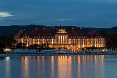 Five stars Sofitel Grand Sopot. Stylish hotel, built in 1927 in Art Noveau and neo-baroque style, remains one of the most recognizable landmarks of the resort Royalty Free Stock Photos