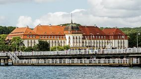 Five stars Sofitel Grand Sopot. Stylish hotel, built in 1927 in Art Noveau and neo-baroque style, remains one of the most recognizable landmarks of the resort Stock Images