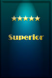 Five Stars Superior in Lightbox Royalty Free Stock Image