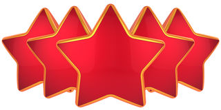 Five stars top level Royalty Free Stock Photo