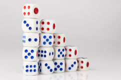 Five step dice Royalty Free Stock Photography