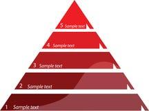 Five steps diagram,  illustration. Five steps triangle diagram,  illustration Stock Image