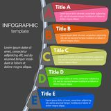 Five steps infographic design elements Stock Photo