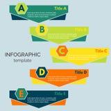 Five steps infographic design elements. Stock Photos