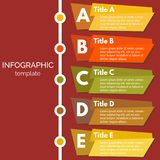 Five steps infographic design elements. Step by step infographic design template. Vector illustration Royalty Free Stock Photo