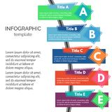 Five steps infographic design elements Royalty Free Stock Photo