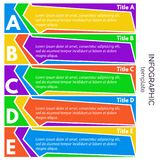 Five steps infographic design elements Royalty Free Stock Photos