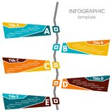 Five steps infographic design elements Royalty Free Stock Images