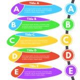 Five steps infographic design elements. Stock Image