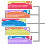 Five steps infographic design elements Stock Images