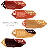 Five steps infographic design elements. Royalty Free Stock Photos