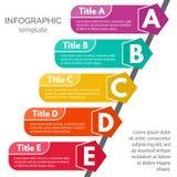 Five steps infographic design elements. Step by step infographic design template. Vector illustration Vector Illustration