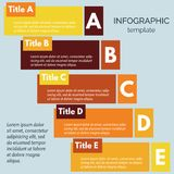 Five steps infographic design elements. Royalty Free Stock Photography
