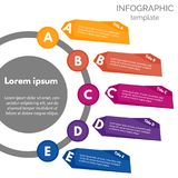 Five steps infographic design elements. Step by step infographic design template. Vector illustration royalty free illustration