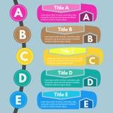 Five steps infographic design elements Stock Photos