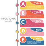 Five steps infographic design elements Stock Photography