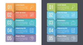 Five Steps Infographics. Infographic template with five steps or options, workflow, process diagram Stock Photography