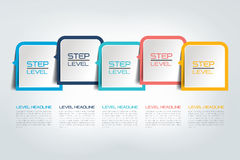 Five steps infographics report, template, chart, scheme. Five steps infographics report / template / chart, scheme. Vector Stock Photos