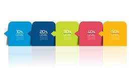 Five steps infographics report, template, chart, scheme. Five steps infographics report / template / chart / scheme. Vector Stock Photo