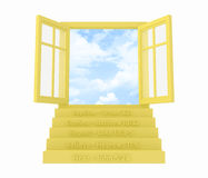 Five Steps to Salvation Open Window Stock Image