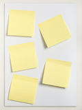 Five Sticky notes Stock Photo