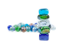 Five stones are teetering Royalty Free Stock Photography