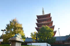 Five storey Pagoda of Senso-ji temple in Asakusa Stock Image