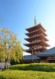 Five-storey pagoda at Sensoji Temple in Tokyo, Japan. Stock Photo