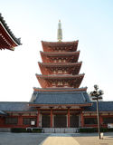 Five-storey pagoda at Sensoji Temple in Tokyo Royalty Free Stock Image