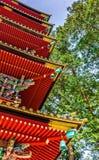Five-storey Pagoda at Tosho-gu shrine in Nikko Stock Photo