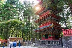 Five storey Pagoda at Toshogu shrine Stock Image