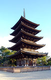 The five-storied pagoda Stock Photo