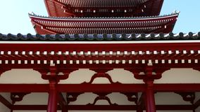 Five-storied pagoda. In Sensoji Temple, Tokyo, Japan stock footage
