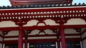 Five-storied pagoda. In Sensoji Temple, Tokyo, Japan stock video