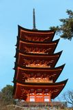 Five storied pagoda Stock Images