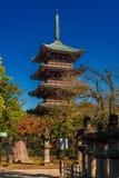 Five Storied Pagoda of Kan'ei-ji in Tokyo stock photos