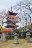 Five Storied Pagoda of Kaneiji Temple at Ueno Park Royalty Free Stock Photos