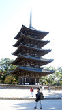Five-storied pagoda of the Kofuku-ji temple Royalty Free Stock Photography