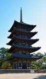 Five-storied pagoda of the Kofuku-ji temple Stock Image