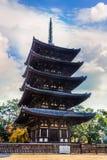 Five- storied pagoda at Kofukuji Temple in Nara Stock Image