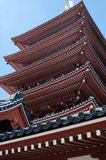 Five-Storied Pagoda from Low angle. Stock Photos