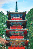 Five storied pagoda at Nikko Tosho-gu shrine Stock Photography