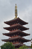 Five storied Pagoda of Senso-ji Royalty Free Stock Photos