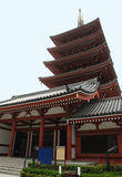 Five Storied Pagoda at Senso-Ji, Tokyo Stock Image
