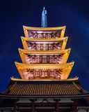 Five-storied Pagoda at Sensoji Temple Stock Photo