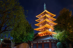 Five-storied Pagoda at Sensoji Temple Royalty Free Stock Image