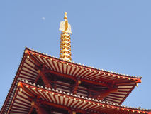 Five Storied Pagoda at Shitennoji Temple, Osaka Japan Royalty Free Stock Photos