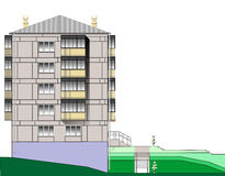Free Five Story Apartment Block Royalty Free Stock Images - 40433579