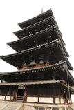 Five-story pagoda of Horyu ji in Nara Stock Photography